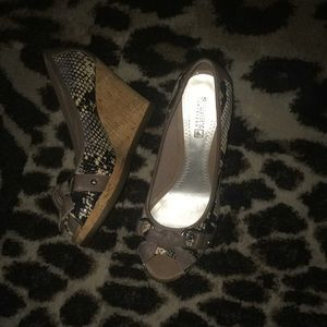 Sperry Top-Sider open toed wedge heels size 6.5